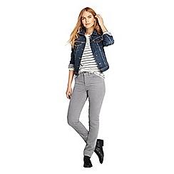 Lands' End - Grey mid rise straight leg corduroy jeans