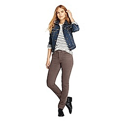 Lands' End - Brown mid rise straight leg corduroy jeans