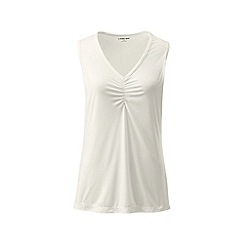 Lands' End - Cream thermaskin heat v-neck vest top