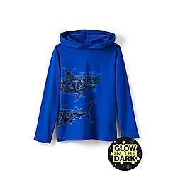 Lands' End - Blue boys' hooded graphic t-shirt