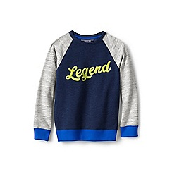 Lands' End - Blue boys' sweatshirt with legend graphic