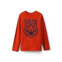 Lands' End - Orange boys' graphic t-shirt