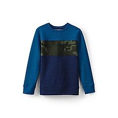Lands' End - Blue boys' sweatshirt with chest stripe
