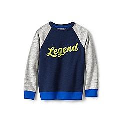 Lands' End - Blue boy's sweatshirt with legend graphic