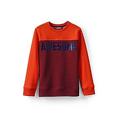 Lands' End - Orange boys' sweatshirt with graphic