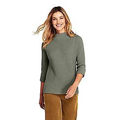 Lands' End - Green funnel neck jumper