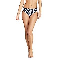 Lands' End - Multi Beach Living Mid Rise Print Bikini Bottoms