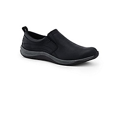 Lands' End - Black everyday slip-on leather trainers