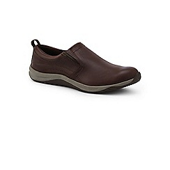Lands' End - Brown everyday slip-on leather trainers