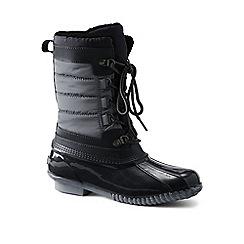 Lands' End - Grey sherpa fleece lined duck boots
