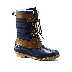 Lands' End - Blue sherpa fleece lined duck boots