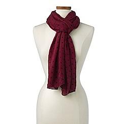 Lands' End - Red polka dot scarf