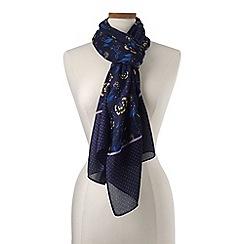 Lands' End - Multi floral polka dot scarf