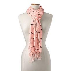Lands' End - Pink dog print scarf