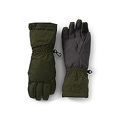Lands' End - Green kids' expedition winter gloves