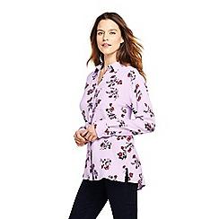 Lands' End - Multicoloured shirt in super-soft brushed viscose