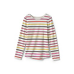 Lands' End - Multicoloured girls' long sleeve patterned t-shirt