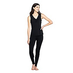 Lands' End - Black petite thermaskin heat v-neck vest top