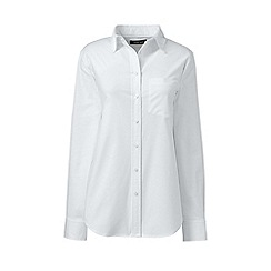Lands' End - White womens classic oxford shirt