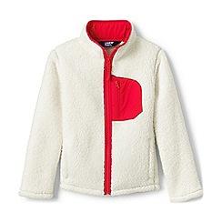 Lands' End - Cream Kids' Sherpa Fleece Jacket