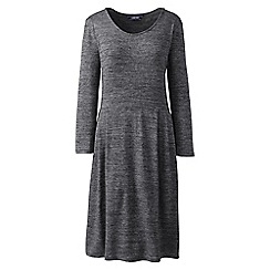 Lands' End - Black petite scoop neck popover dress