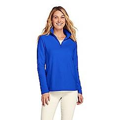 Lands' End - Blue plus half zip fleece top