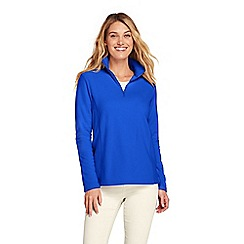 Lands' End - Blue petite half zip fleece top