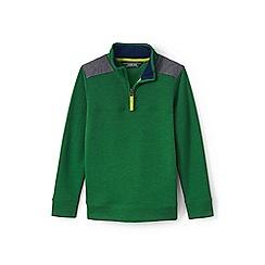 Lands' End - Green boys' half-zip sweatshirt
