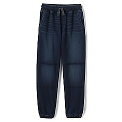 Lands' End - Blue boys' iron knees soft denim joggers