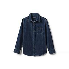 Lands' End - Blue boys' denim shirt