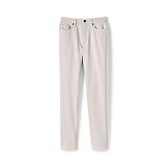 Lands' End - Cream Coloured High Waisted Straight Leg Jeans