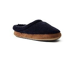 Lands' End - Blue sherpa fleece clog slippers