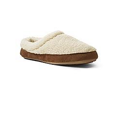 Lands' End - Cream sherpa fleece clog slippers