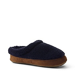 Lands' End - Blue sherpa fleece clog slippers