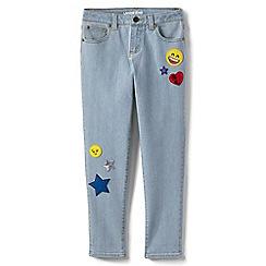 Lands' End - Blue girls' iron knees novelty girlfriend jeans