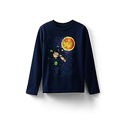 Lands' End - Navy toddler boys' graphic t-shirt