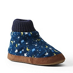Lands' End - Multi fleece bootie slippers