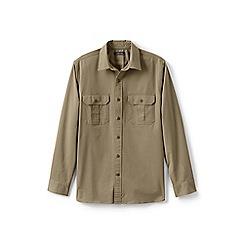 Lands' End - Beige stretch chino work shirt