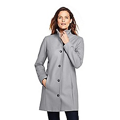 Lands  End - Grey fit and flare wool blend coat 0058cb575f231