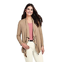 Lands' End - Beige plus lightweight waterfall cardigan