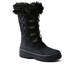 Lands' End - Black squall snow boot