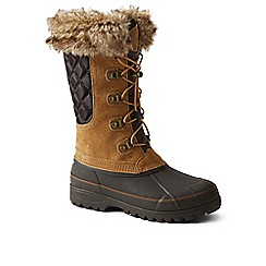 Lands' End - Brown squall snow boot