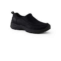Lands' End - Black wide everyday slip on leather shoes