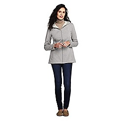Lands' End - Grey petite water resistant fleece coat