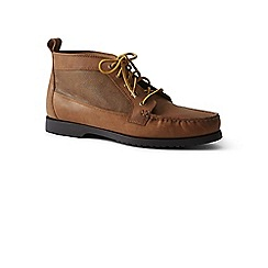 Lands' End - Brown leather chukka moc boots