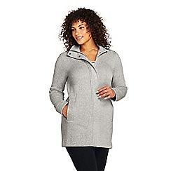 Lands' End - Grey plus sweater fleece coat