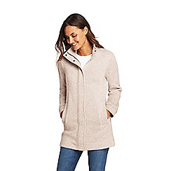 Lands' End - Beige petite sweater fleece coat
