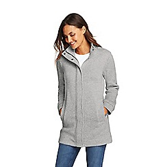 Lands' End - Grey petite sweater fleece coat