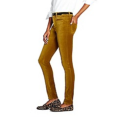 58387f1a9fd Lands' End - Gold mid rise slim velvet jeans