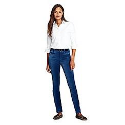 Lands' End - Blue mid rise slim velvet jeans